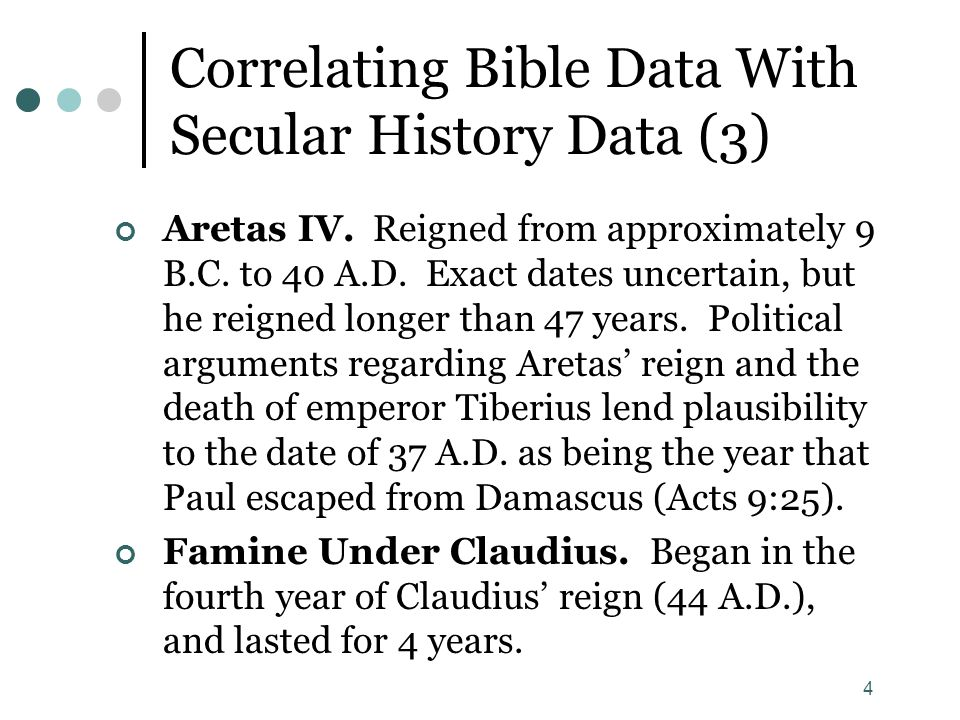 Correlating Bible Data With Secular History Data (3)
