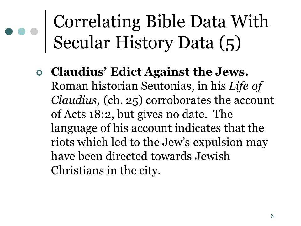 Correlating Bible Data With Secular History Data (5)