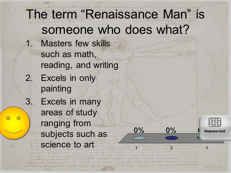 The term Renaissance Man is someone who does what