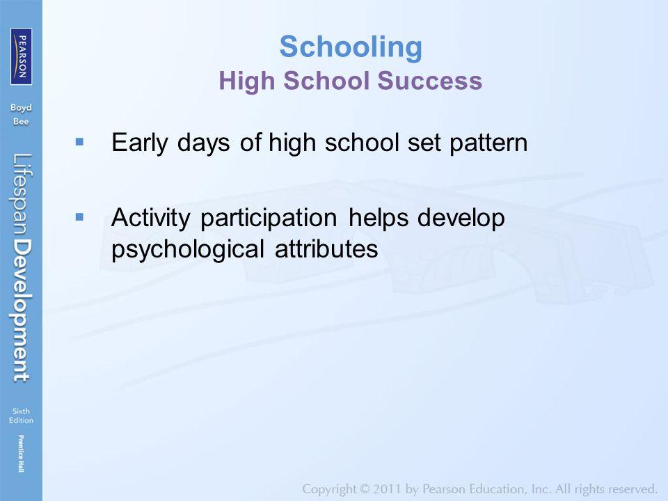 Schooling High School Success