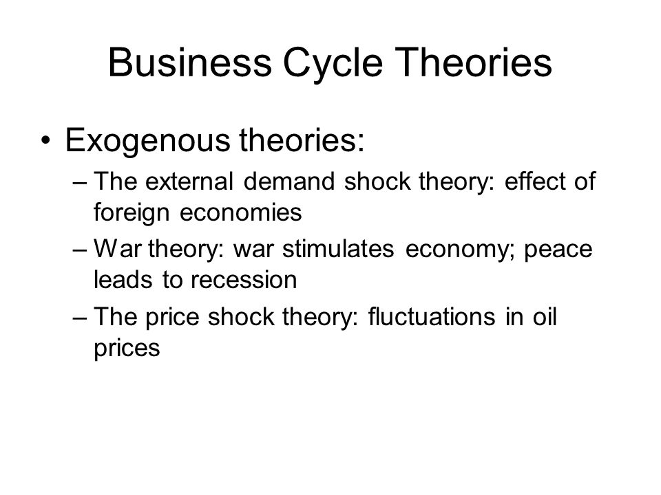 Business Cycle Theories