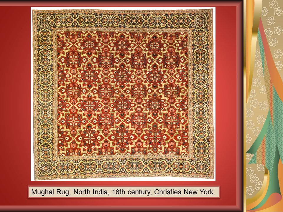 Mughal Rug, North India, 18th century, Christies New York