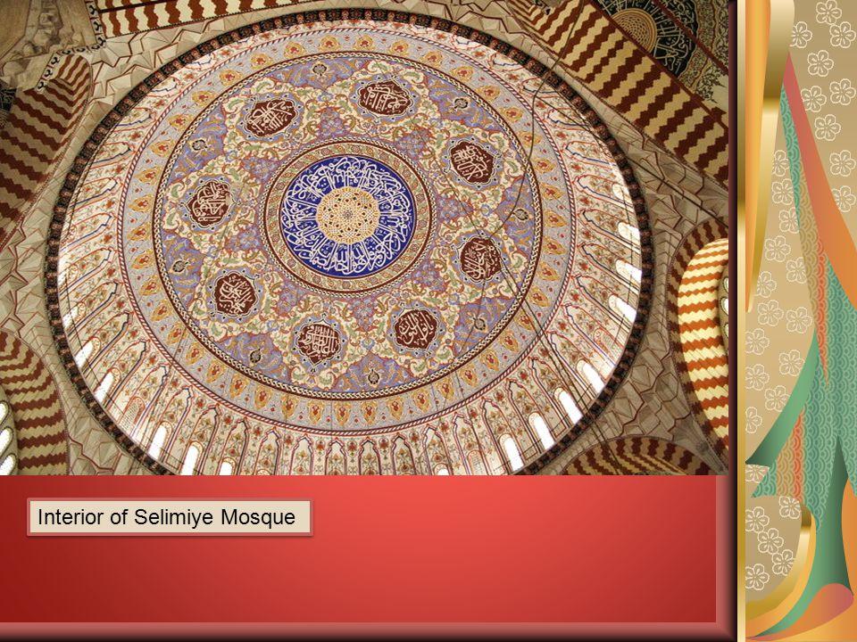 Interior of Selimiye Mosque
