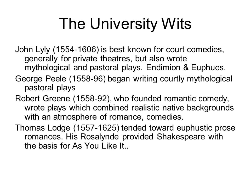 The University Wits