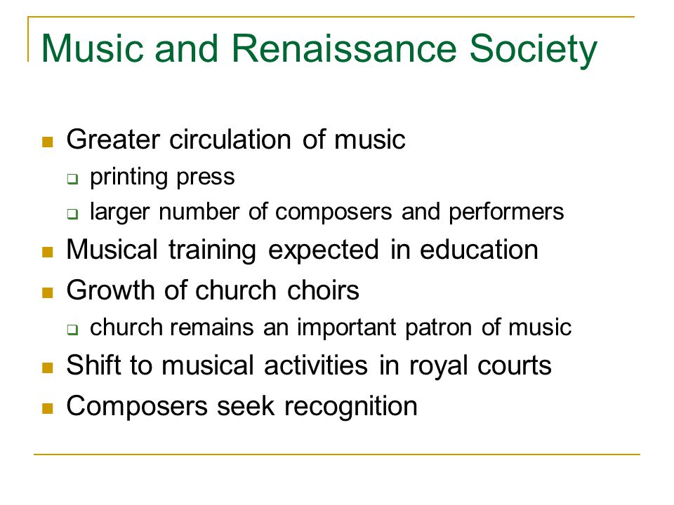 Music and Renaissance Society