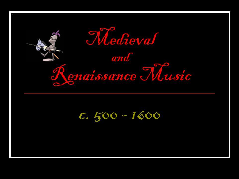medieval renaissance music