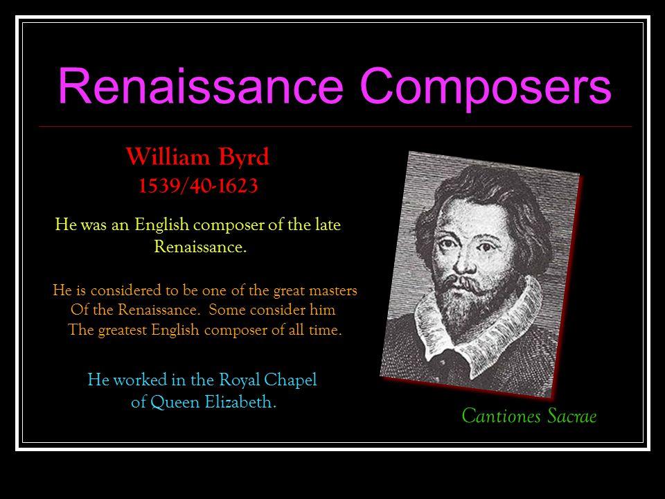 Renaissance Composers