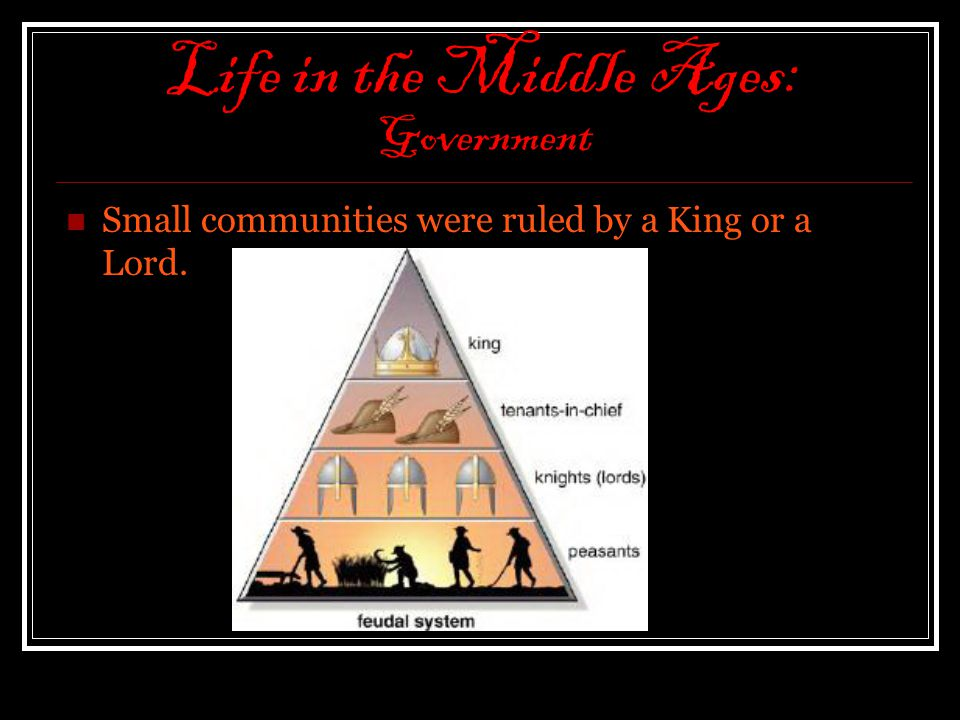 Life in the Middle Ages: Government