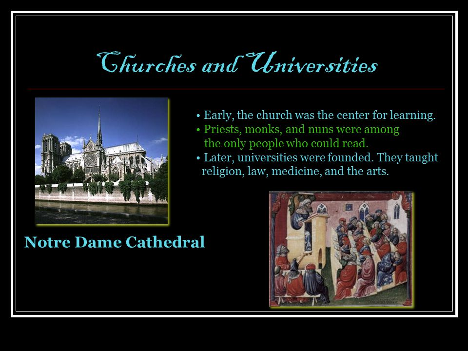 Churches and Universities