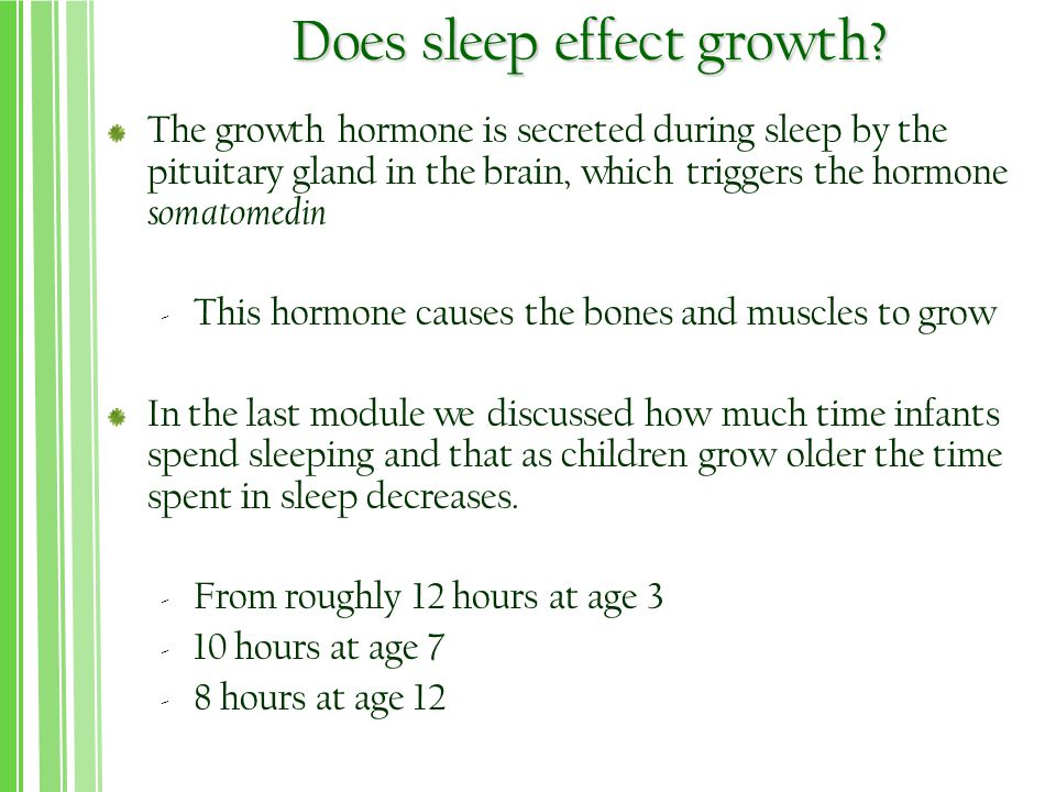 Does sleep effect growth