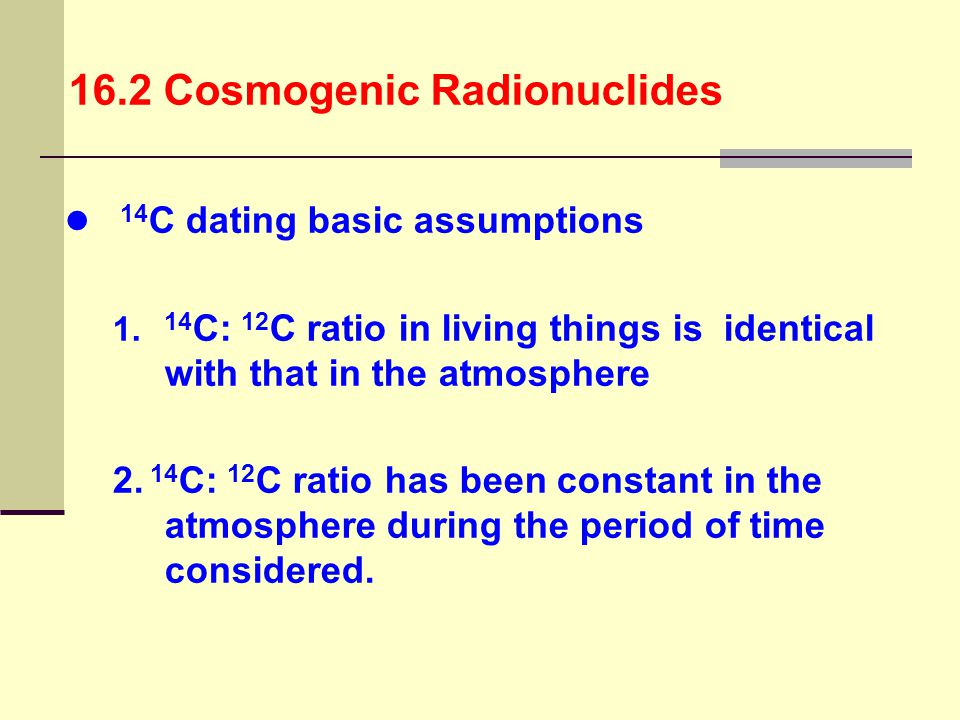 16.2 Cosmogenic Radionuclides