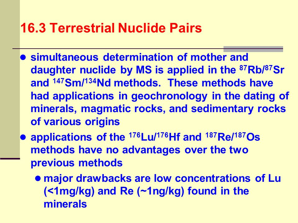 16.3 Terrestrial Nuclide Pairs