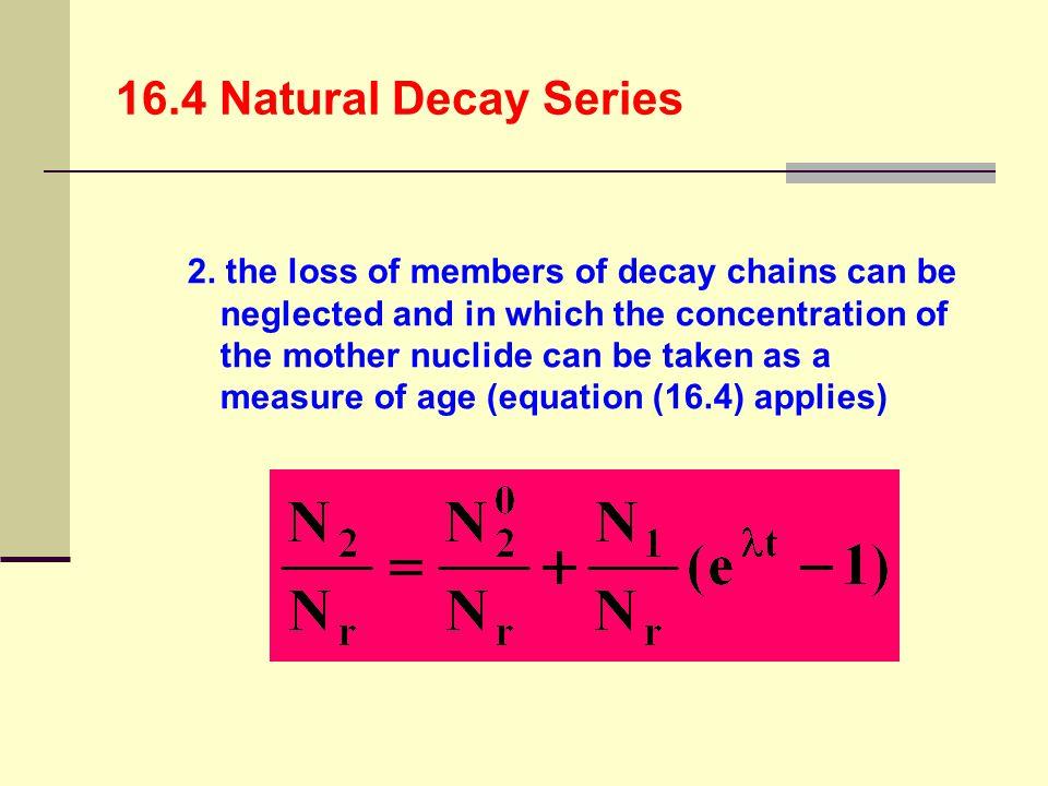 16.4 Natural Decay Series