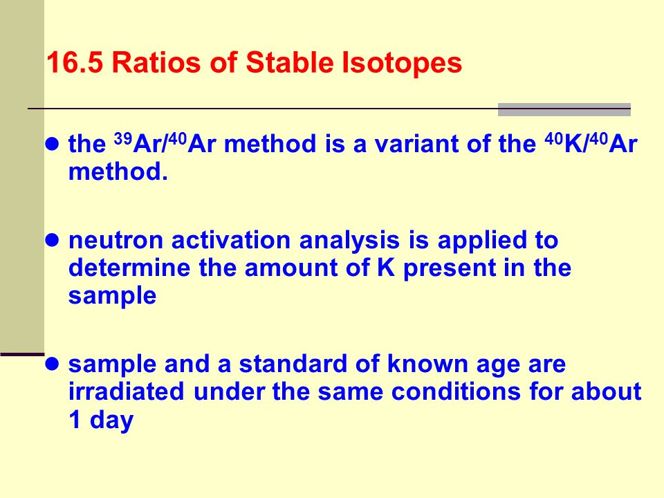 16.5 Ratios of Stable Isotopes