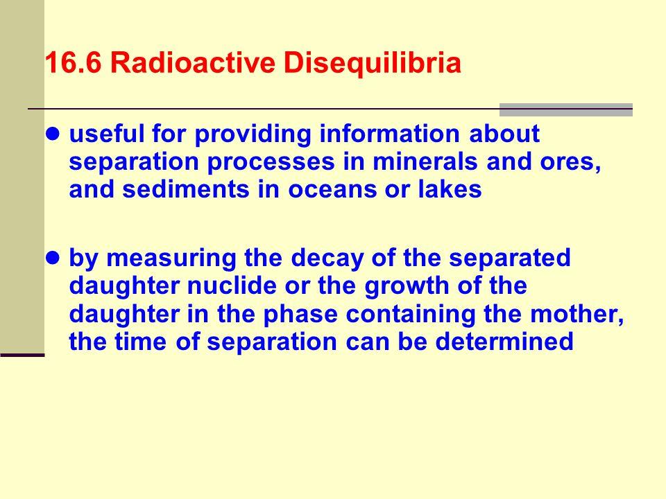 16.6 Radioactive Disequilibria