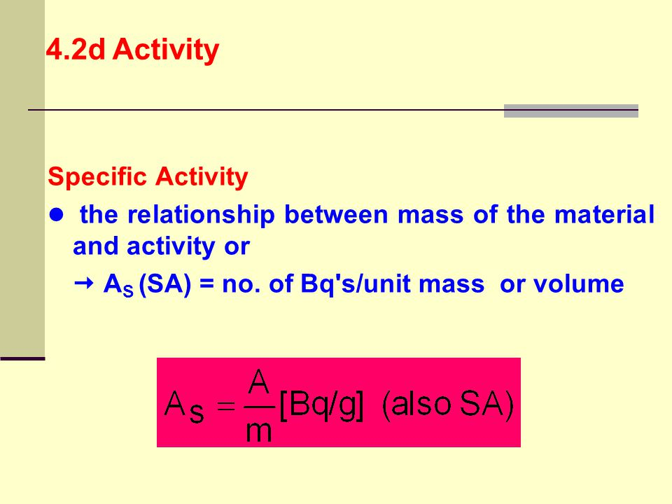4.2d Activity Specific Activity