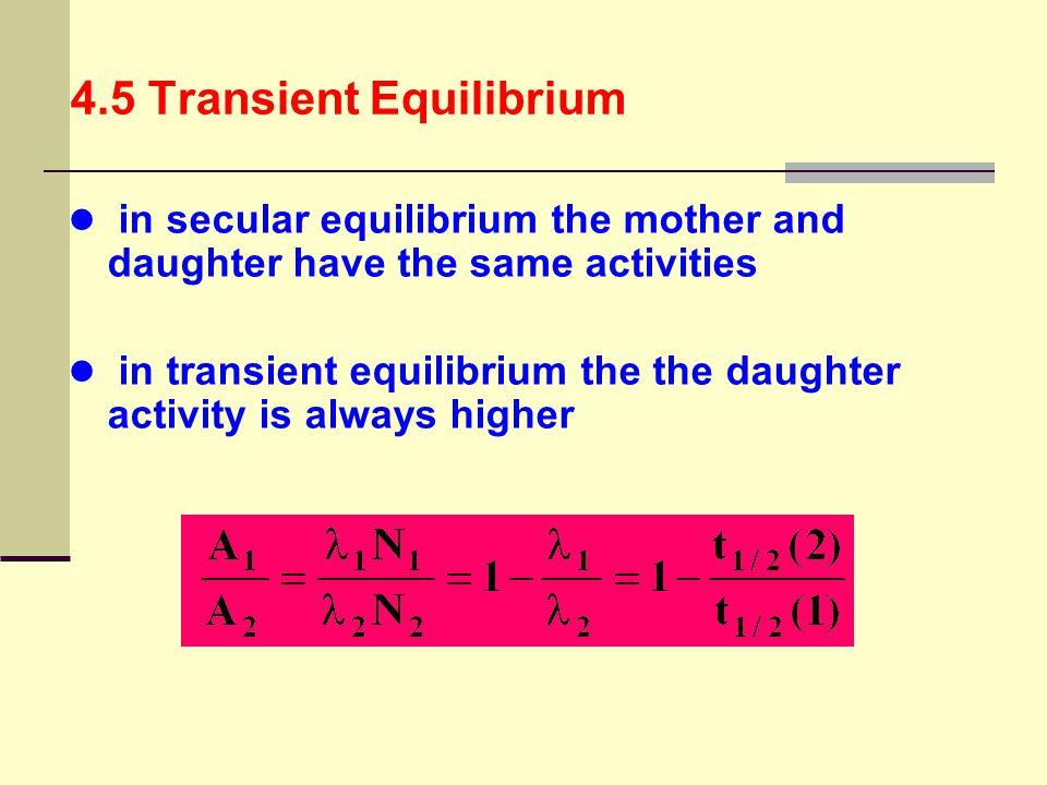 4.5 Transient Equilibrium