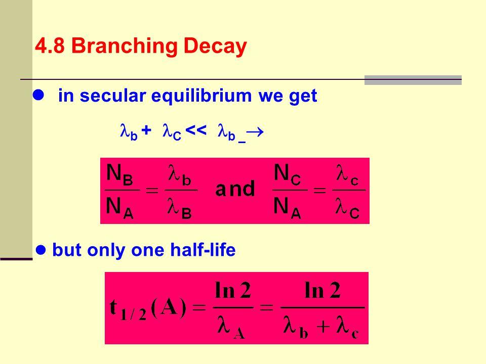 in secular equilibrium we get