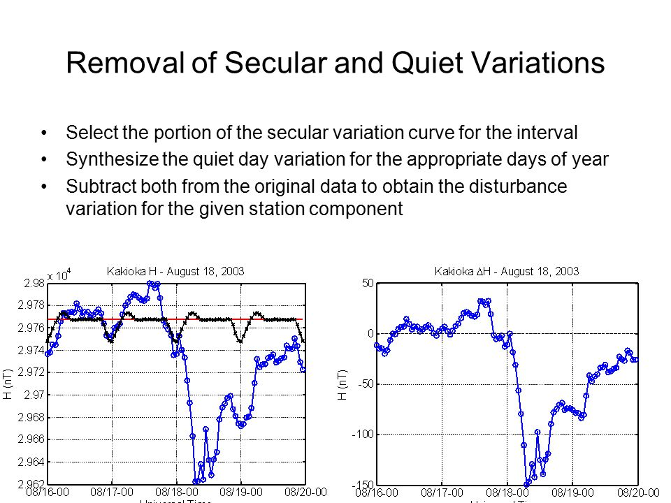 Removal of Secular and Quiet Variations