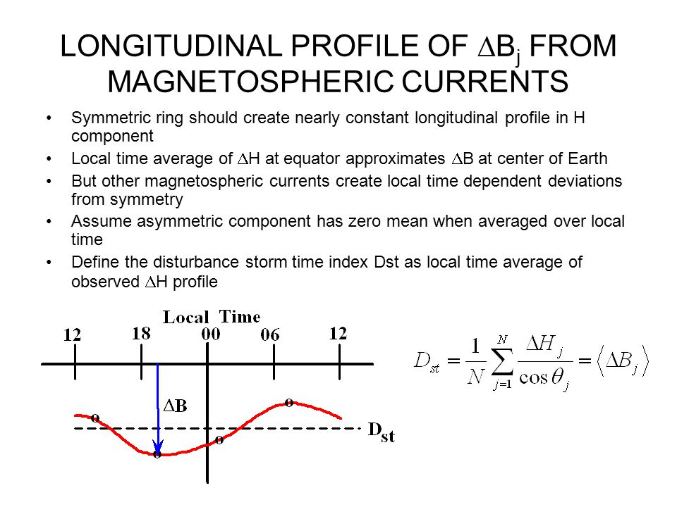 LONGITUDINAL PROFILE OF Bj FROM MAGNETOSPHERIC CURRENTS