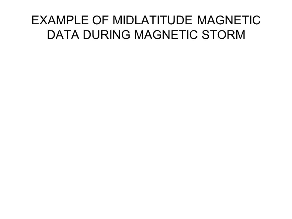 EXAMPLE OF MIDLATITUDE MAGNETIC DATA DURING MAGNETIC STORM