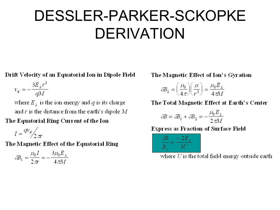 DESSLER-PARKER-SCKOPKE DERIVATION