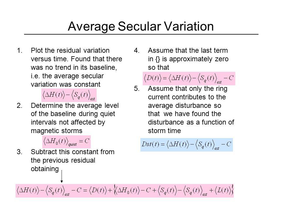 Average Secular Variation