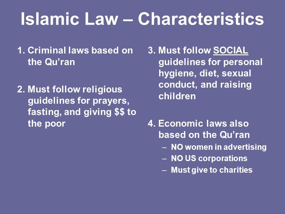 Islamic Law – Characteristics