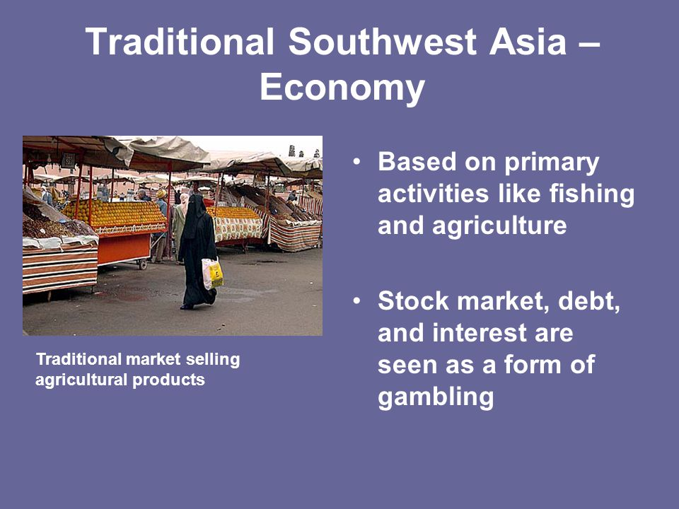 Traditional Southwest Asia – Economy