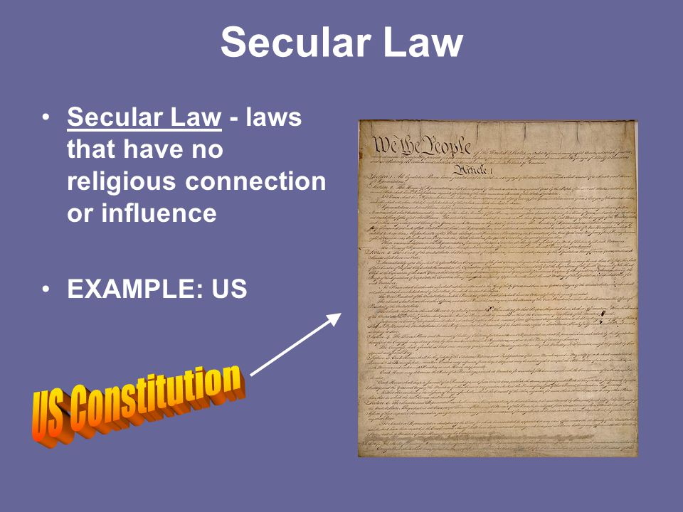 Secular Law US Constitution