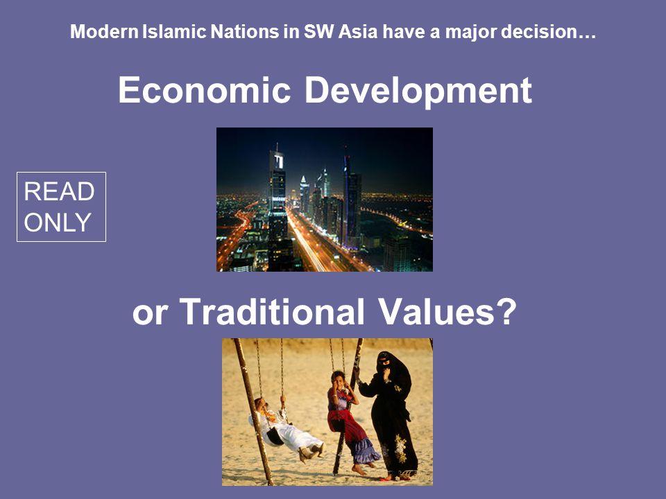 Economic Development or Traditional Values