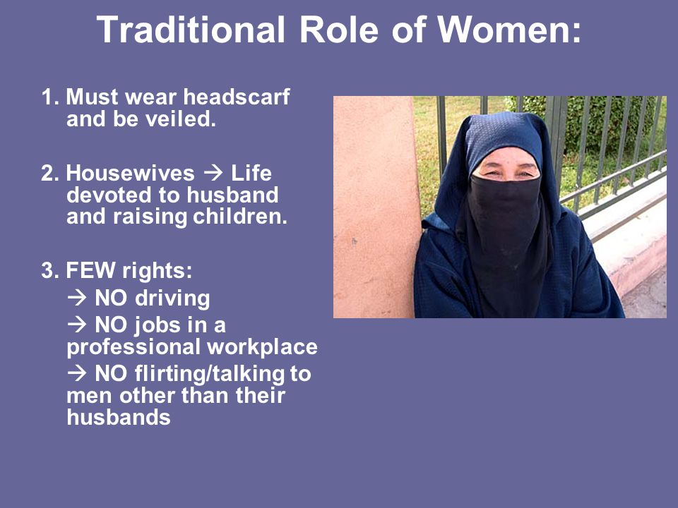Traditional Role of Women: