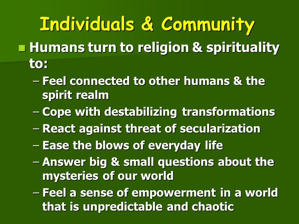 Individuals & Community