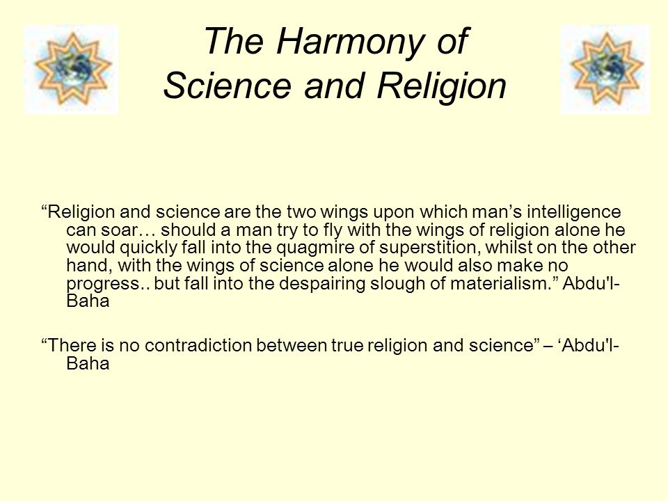 The Harmony of Science and Religion