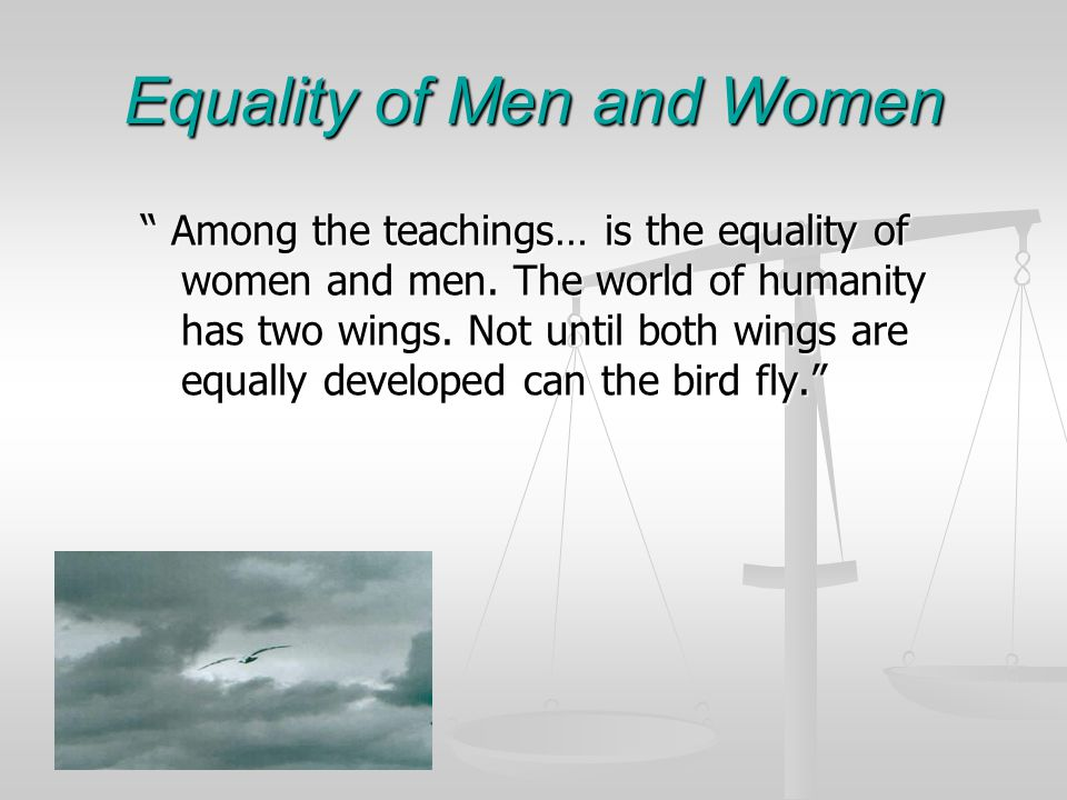 Equality of Men and Women