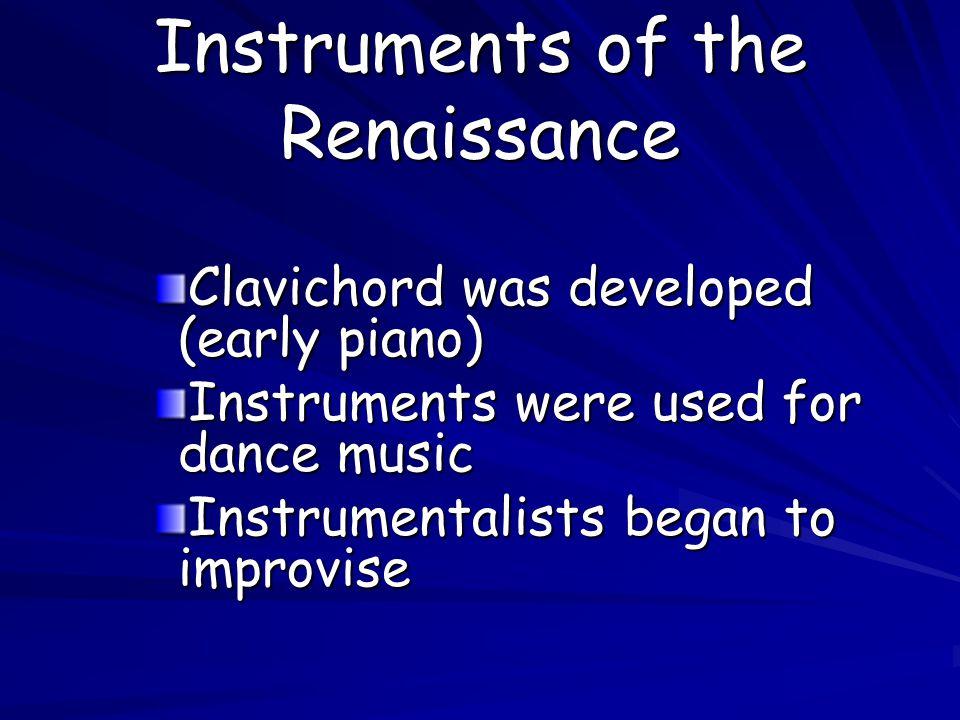 Instruments of the Renaissance