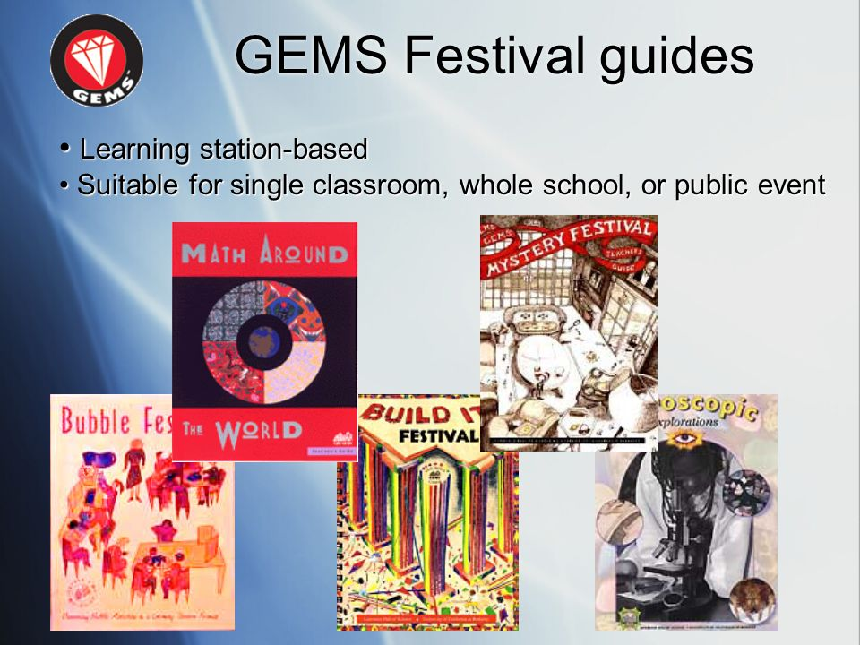 GEMS Festival guides • Learning station-based