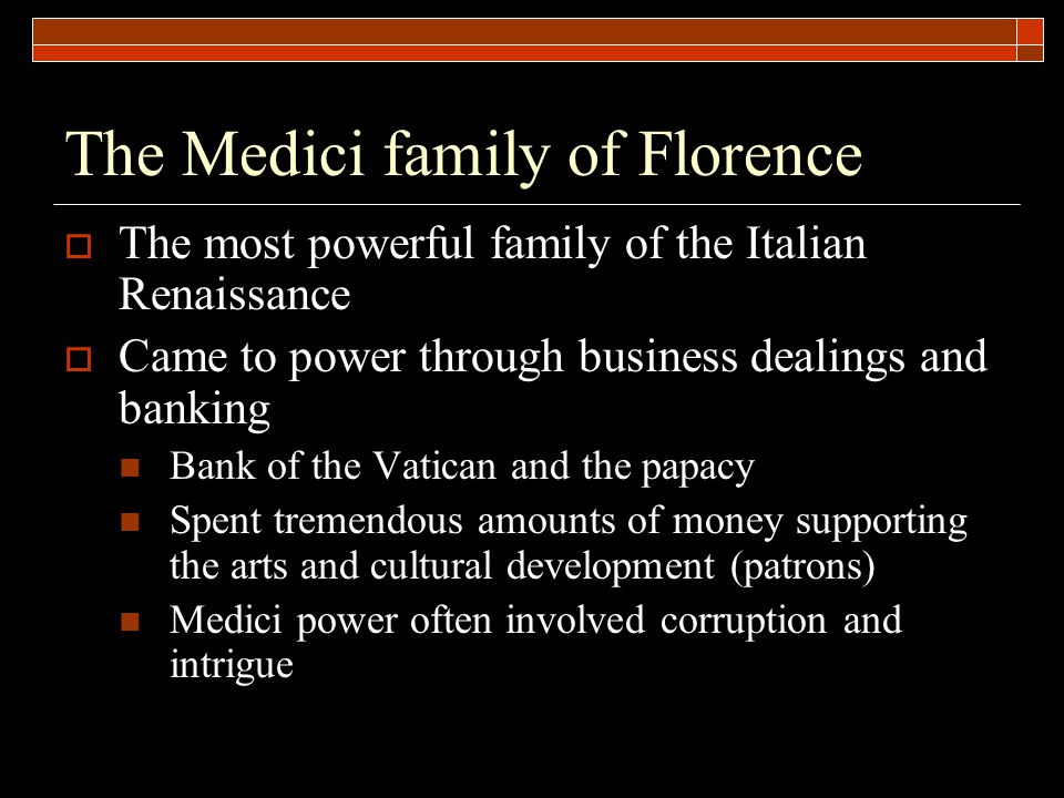 The Medici family of Florence