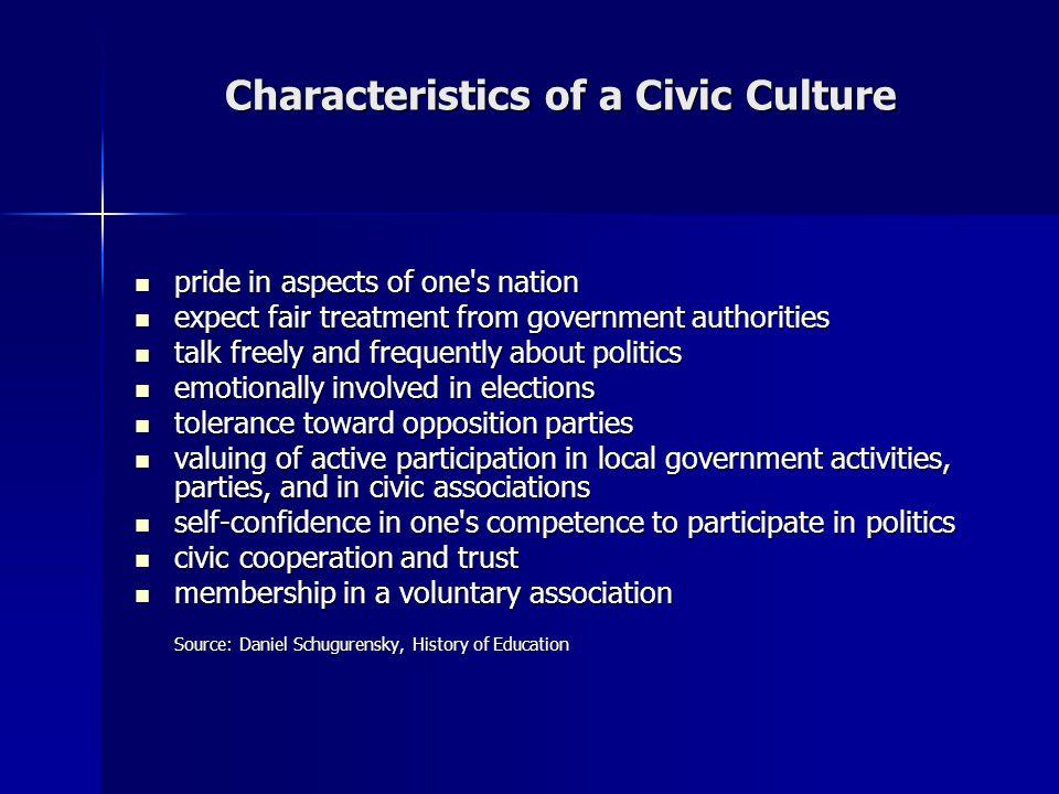 Characteristics of a Civic Culture