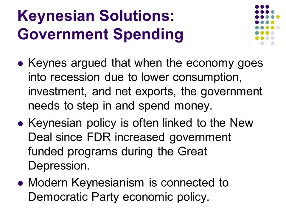Keynesian Solutions: Government Spending