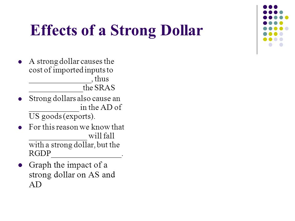 Effects of a Strong Dollar