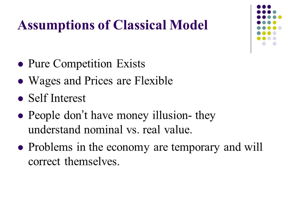 Assumptions of Classical Model