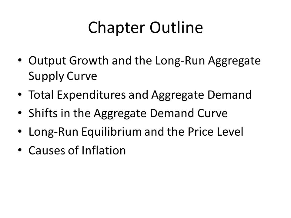 Chapter Outline Output Growth and the Long-Run Aggregate Supply Curve