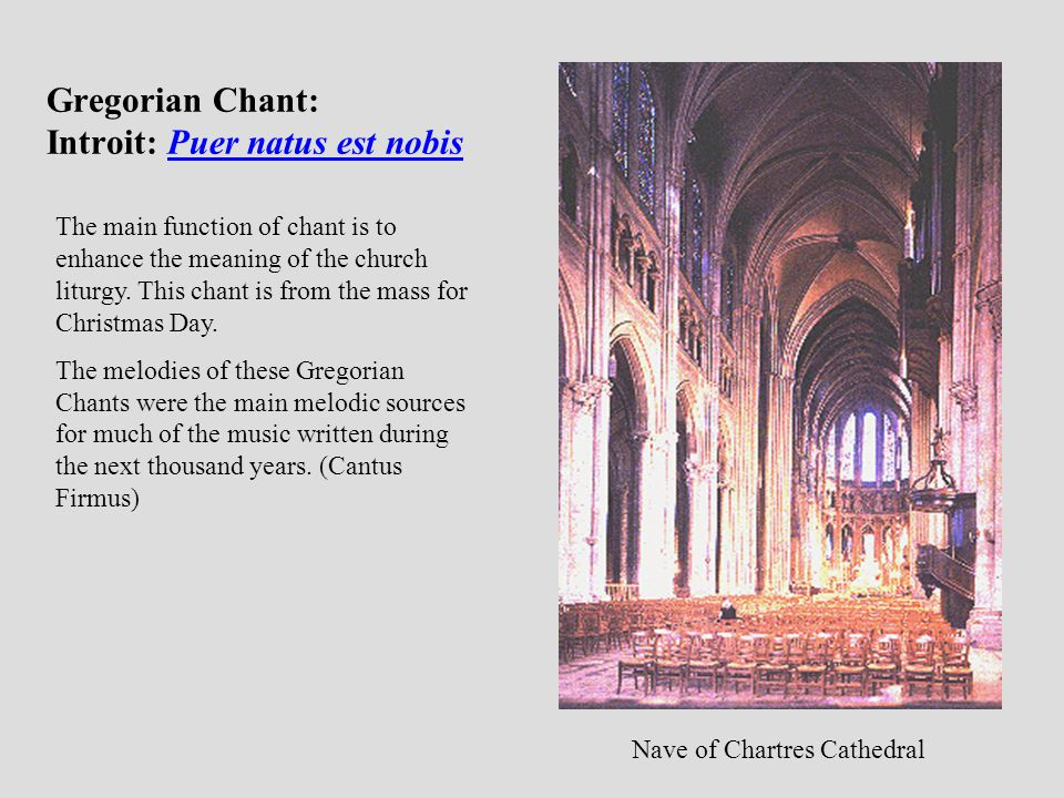 Gregorian Chant: Introit: Puer natus est nobis