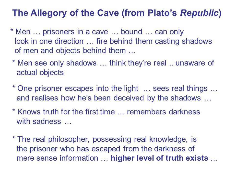 The Allegory of the Cave (from Plato's Republic)