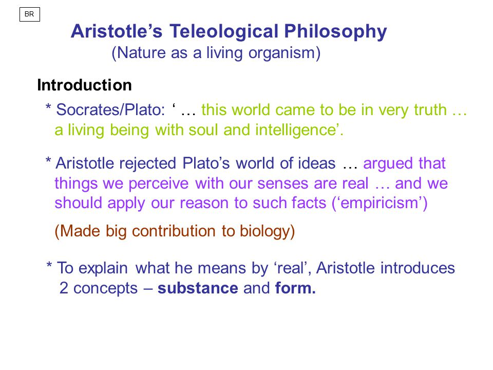 Aristotle's Teleological Philosophy
