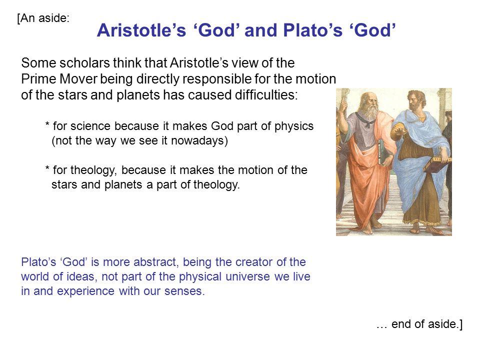Aristotle's 'God' and Plato's 'God'