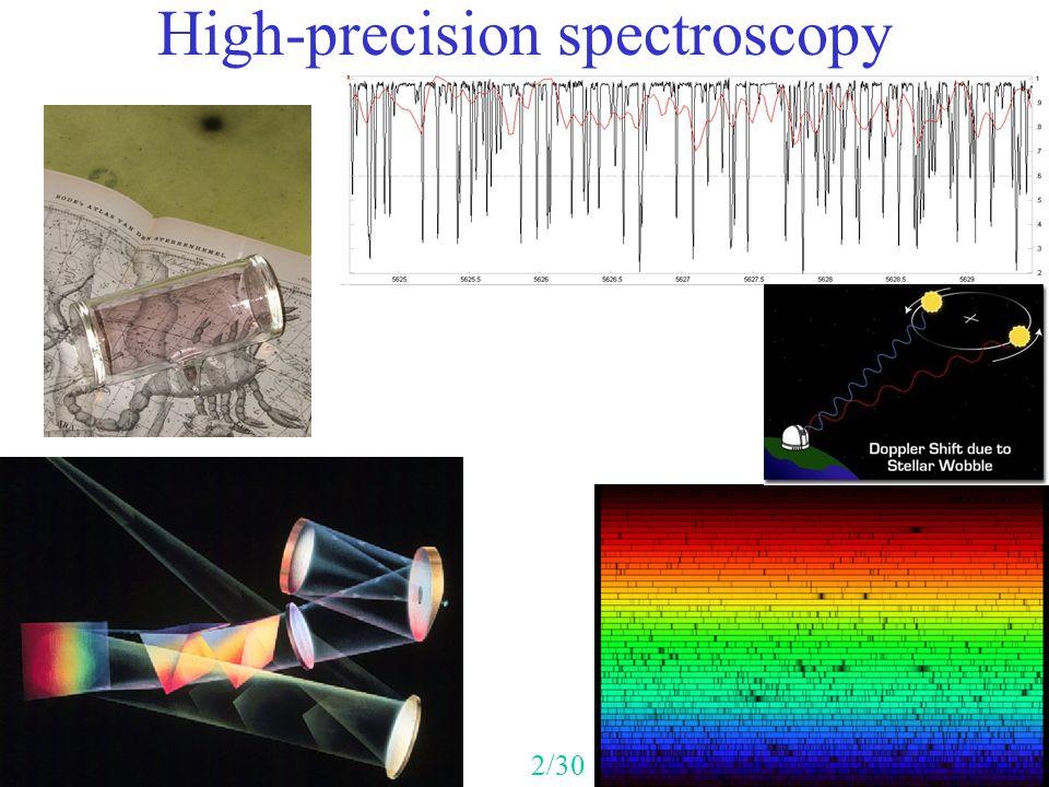 High-precision spectroscopy