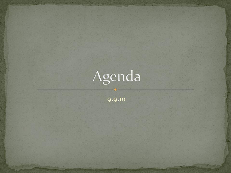 Agenda 9.9.10