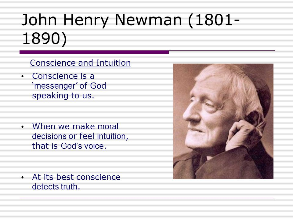 Conscience and Intuition